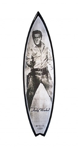 andy warhol surfboard (elvis) by tim bessell