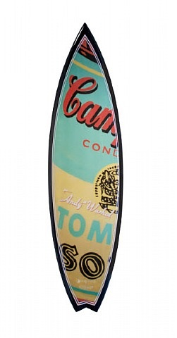 andy warhol surfboard (campbell's soup) by tim bessell