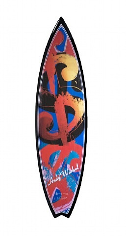 andy warhol surfboard (dollar sign) by tim bessell