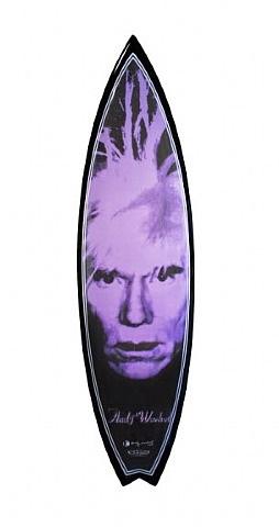 andy warhol surfboard (self portrait) by tim bessell