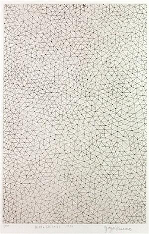 infinity nets (a·b) by yayoi kusama