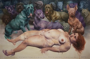 la mujer que amaba los perros (the women that loves dogs) by roberto fabelo