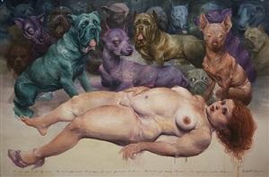 la mujer que amaba los perros (the women that loves dogs) by roberto fabelo
