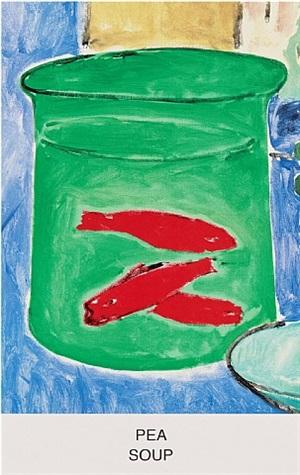 eight soups: pea soup by john baldessari