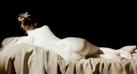 reclined nude by toby boothman