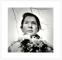 portrait with flowers by marina abramović