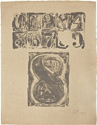0-9: plate 8 by jasper johns