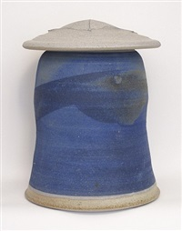 covered jar by karen karnes