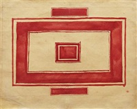 ceiling plan for the red theater, leningrad by kazimir malevich
