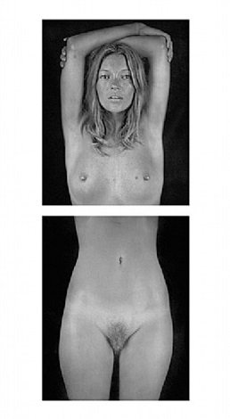 untitled (large-kate diptych) by chuck close