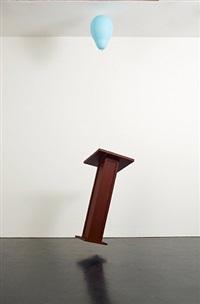 untitled (lectern) by tom friedman