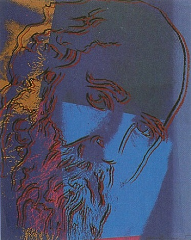 martin buber (from the ten portraits of jews portfolio) by andy warhol