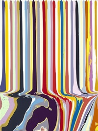 puddle painting : white by ian davenport