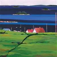 over the hill, stonington - limited edition print by phoebe porteous
