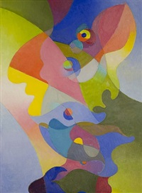 flight of the butterfly #3 by stanton macdonald-wright
