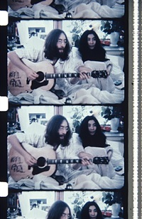 john & yoko bed-in for peace, montreal, may 26, 1969 by jonas mekas