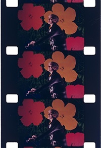 andy warhol at the opening of his show, whitney museum, may 1, 1971 by jonas mekas