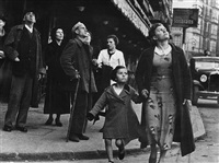 crowds running for shelter when the air-raid alarm sounded, bilbao, spain, 1937 by robert capa