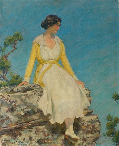 portrait of a woman by charles courtney curran