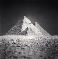 giza pyramids, study 5, cairo, egypt by michael kenna