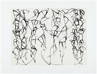 zen studies 1-6: plate 6 by brice marden