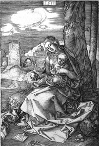 virgin and child with pear by albrecht dürer