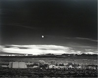 moonrise, hernandez, new mexico by ansel adams