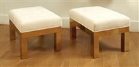 paire de tabourets cityscape / pair of cityscape benches by paul evans