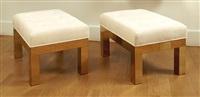 paire de tabourets cityscape / pair of cityscape benches by paul evans