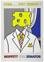jobs...not cheese! moffett for senator by roy lichtenstein