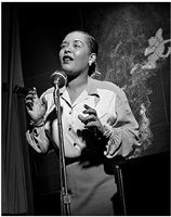 billie holiday, nyc by herman leonard