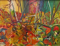 mecklenburg autumn: october - towards paw's creek by romare bearden
