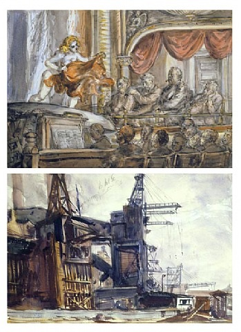 burlesque; and the docks: (a double-sided work) by reginald marsh