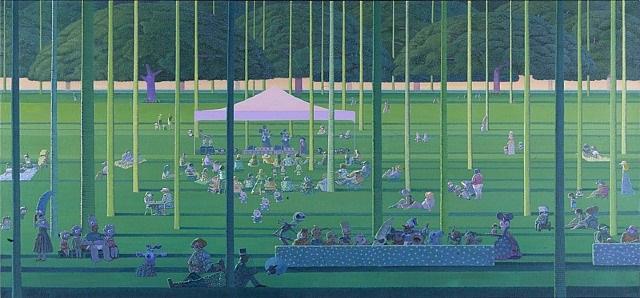 picnic in hawaii by zhang gong