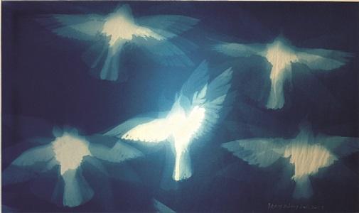 rising pigeons by zhang dali