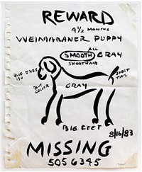 reward poster by william wegman