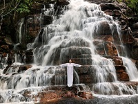 places of power, waterfall by marina abramović