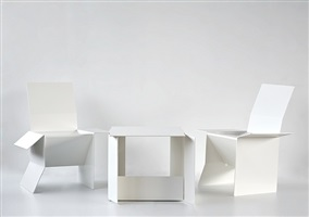 carton table and carton chair by sebastian de ganay