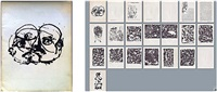 catalog of paintings for his 5th exhibition at betty parsons' gallery in 1951, new york by jackson pollock
