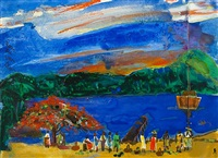 the evening boat by romare bearden