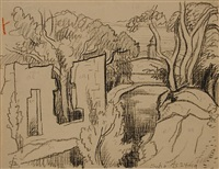 ruin soho by oscar florianus bluemner