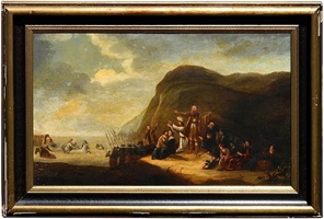 pharaoh's army drowning in the red sea by willem de poorter