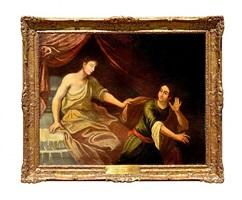 joseph's escape from the potiphar's wife by francesco di simone da santacroce