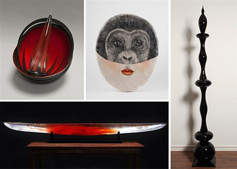 black, white, red – a sculpture show