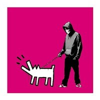 choose your weapon, magenta by banksy