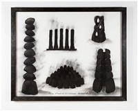 five charred sculptures by david nash