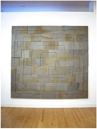 four rectangles, fine sawn, broken pavers by andy goldsworthy
