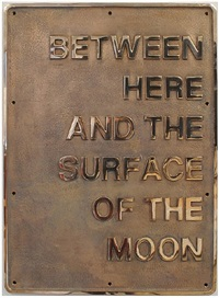 between here and the surface of the moon by darren almond