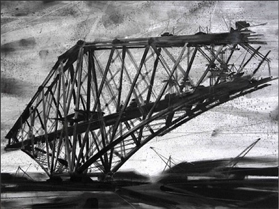 gedankenbrücke schwarz – weiß / thoughts bridge black - white by constantin jaxy
