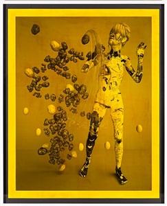 aspettatori (b&w) yellow i by tim berresheim